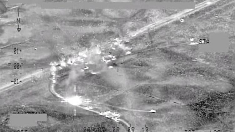 Kampanye serangan Udara terhadap militan IS yang melarikan diri keluar Fallujah dihancurkan 200 kendaraan, 348 tewas (Foto : i24news)