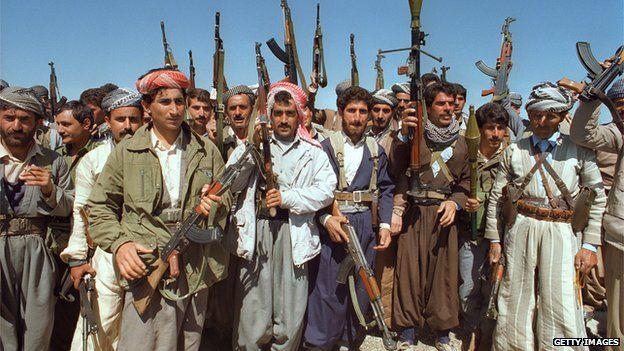 Pasukan dari Suku Kurdi, Peshmerga pada masa lalu (foto : bbc)