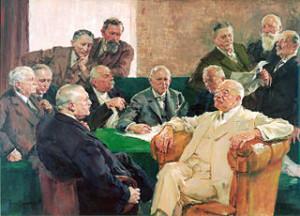 Dewan pengawas IG Farben pada tahun 1926, dengan Arthur von Weinberg, Carl Müller, Edmund ter Meer, Adolf Haeuser, Franz Oppenheim, Theodor Plieninger, Ernst von Simson, Carl Bosch, Walther vom Rath, Wilhelm Kalle, Carl von Weinberg dan Carl Duisberg, empat di antaranya adalah Yahudi