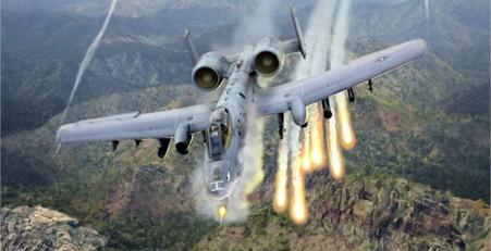 Ilustrasi Pesawat Serang Darat (Air to Ground) A-10 Thunderbold-II (Warthog) yang dioperasikan dari Incrilik (Foto : karar)