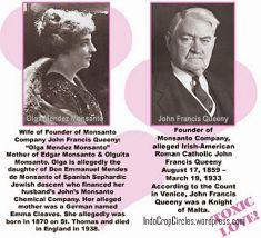Pendiri perusahaan transgenetik Monsanto, Olga Mendez Monsanto dan suaminya John Francis Quenny.