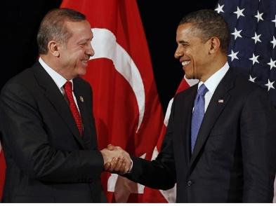 Presiden Obama dan Erdogan saat pertemuan bilateral di Seoul (Foto :frontpagemag)
