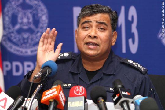 Kepala Polisi Malaysia Tan Sri Khalid Menjelaskan penangkapan 14 tersangka teroris