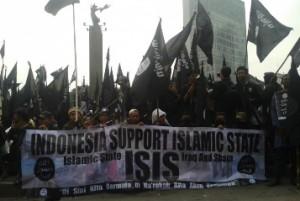 Para simpatisan ISIS di Jakarta, Muncul dan disebut ISIS Indonesia (Foto : republika)