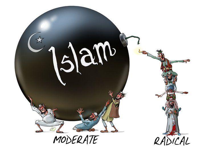 Kartun Islam Moderat - Radikal