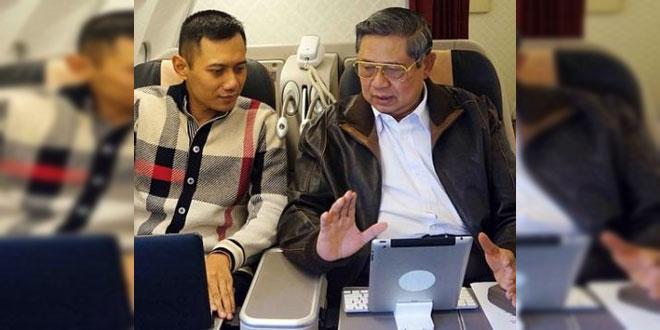 Agus Yudhoyono beserta Pak SBY yang dipanggil kesayangannya Pepo (Foto : waspada.Online)