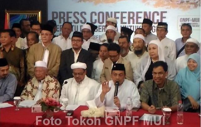 Tokoh-tokoh GNPF MUI (Foto : MuslimCyber)