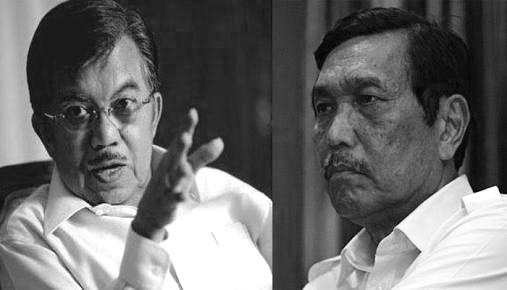 Dua tokoh besar Golkar, JK dan LBP  yang masih berkiprah di pemerintahan, apakah mereka kini King Maker Golkar? (Foto : NusantaraKini)