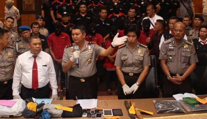 Kapolda Sumatera Utara Irjen Pol Rycko Amelza Dahniel saat konperensi pers
