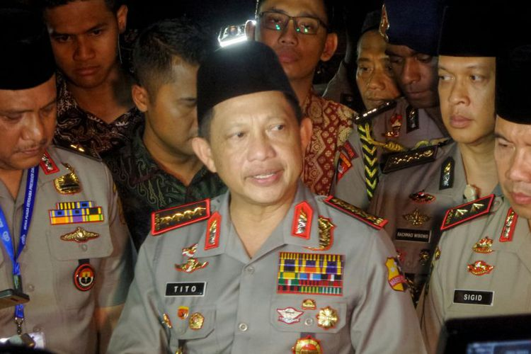 Kapolri Jenderal Pol Tito Karnavian penulis kenal sebagai pakar masalah terorisme, mantan Kadensus, Kepala BNPT, kini faham harus bagaimana menangani ancaman serius itu (foto : Tribunnews)