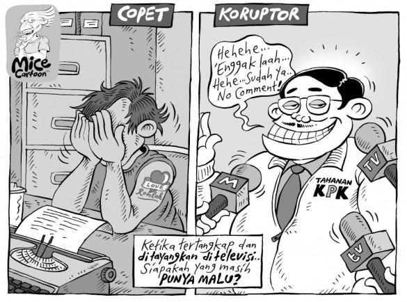 Ilustrasi antara copet dan koruptor (sumber :Terongist)