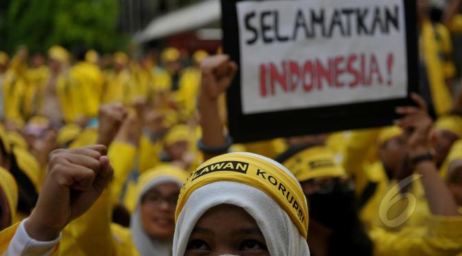 Ilustrasi, demo mahasiswa, Selamatkan Indonesia (foto : info-antual)