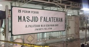 Masjid Falatehan, yang berlokasi di lingkungan Mabes Polri, tempat anggota polisi diserang (Foto : kriminalitas)