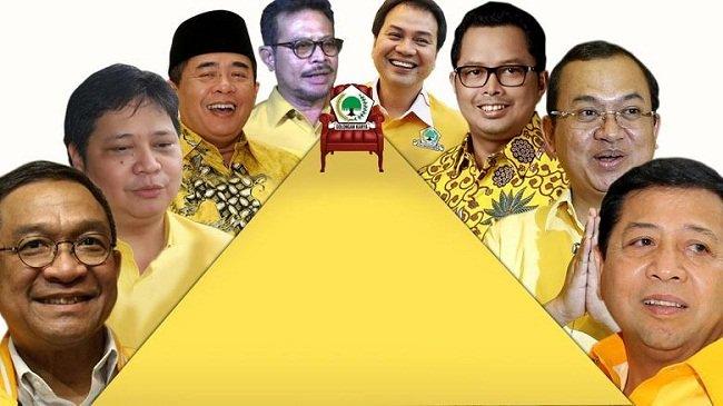 Para calon Ketua Umum Golkar Munaslub 2016, apakah kembali akan muncul caketum diantara mereka calon yang dinilai berintegritas itu ? (Foto : LensaIndonesia)