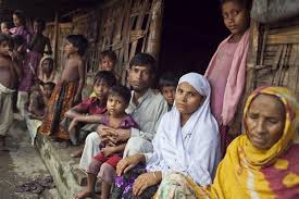 Masyarakat muslim di bantai di usir dari tanah Rohingnya