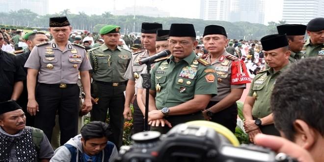 Ilustrasi foto Panglima TNI saat di Monas. Istimewa