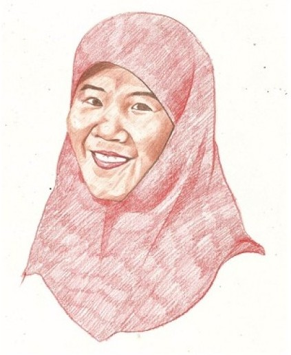 Lukisan Abstrak Asma Nadia